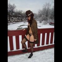 Betty Boob Naked Under Coat