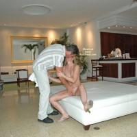 *JO Sexy Suz Hotel Lobby Blowjob In South Beach, Part 2 Of 3