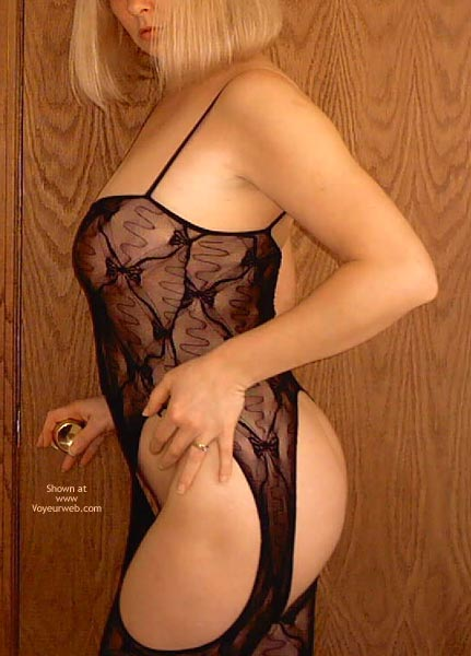 Pic #1 - Black Body Suit , Black Body Suit, Suspender Body Stocking, Catsuit