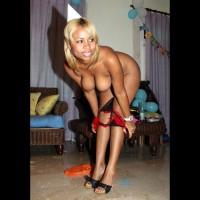 Nude Girl On Heels Bending Over - Blonde Hair, Hanging Tits, Heels, Long Legs, Naked Girl, Nude Wife