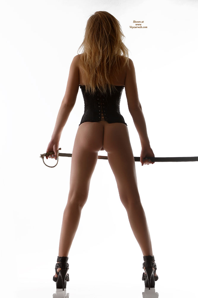 Pic #1 - Black Platform Stilletto Heels - Heels, Bald Pussy, Hot Girl , Pantyless Girl, Amateur Photos, Black Corset, Firm Ass, Rear Bottomless View In Corset And High Heels, Rear View In Corset And High Heels, Black Silky Lace-up Corset