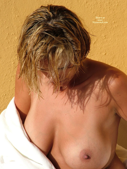 Pic #1 - Tan Line - Artistic Nude, Huge Tits , Tan Line, Artistic Lighting, Robe, Jugs, Large Tits, Huge Tits, Huge Boobs