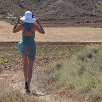 High Heels In The Country , A Little Walk In The Windy Country Last Summer. Hope You Like.  Kisses  Hannah