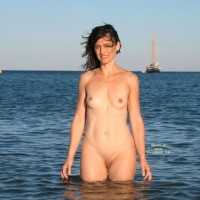 Coming Out From Water - Nude Beach