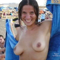 Topless At Beach - Brown Nipples, Flashing Tits, Natural Tits, Tan Lines