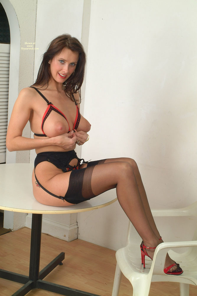 Pic #1 - Sexy Girl In Lingere Sitting On Table - Brown Hair, Firm Tits, Long Legs, Stockings, Sexy Legs, Sexy Lingerie, Sexy Woman , Red Cfm Heels, Full Table Service, Firm Bullet Tits, Peekaboo Bra, Perfect Tits, Sheer Thigh High Stockings, Maid Of The Round Table, Garter Belt, Long Sexy Legs