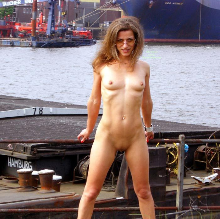 Pic #1 - Naked At The Docks - Brown Hair, Nude Outdoors, Shaved Pussy, Small Breasts, Sunglasses, Naked Girl, Nude Amateur, Small Areolas , Small Nipples, Small Firm Breasts, Exposed In Public Byt The Water, Pierced Pussy In Hamburg, Body Jewelry, Outdoor Nude By The Water, Layered Light Brown Hair And Sunglasses, Skinny Fit Body, Shaved, Pierced Clit