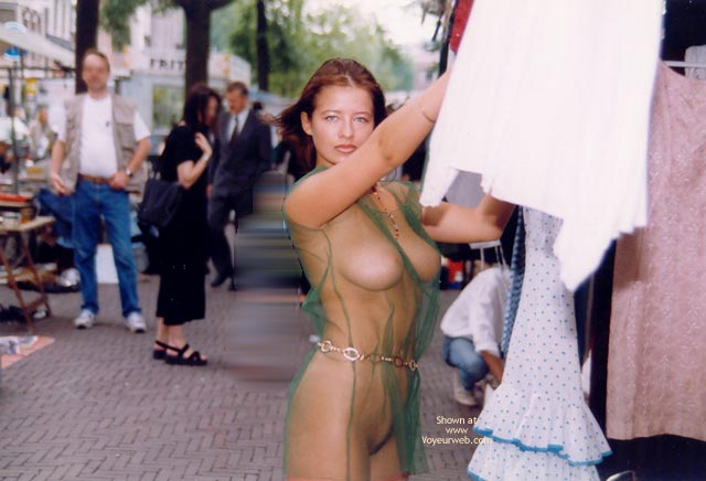 Pic #1 - Naked In Public - Large Breasts, Nude In Public , Naked In Public, Seethough Dress, Green See Trough, Fully Eip, Large Breasts, Seethrough Clothing, Big Tits In Public