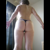 Marier 50+ Posing Topless In Black Thong