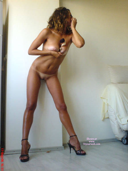 Pic #1 - Naked In Heels - Tan Lines , Naked In Heels, Tan Lines, Forced Cleavage, Pink Areolas
