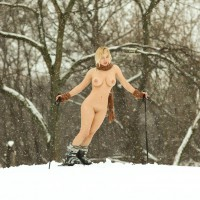 Naked Skier - Long Legs, Shaved Pussy, Nude Wife, Sexy Legs , Snow Bunny, Sex Snow Bunny, Nature Nude, Cold Pussy, Voluptuous Snow Queen, Long Sexy Legs, Gorgeous Body