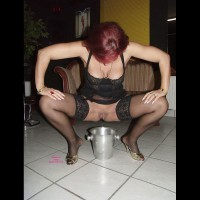 Lady E Pissing In A Pot