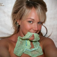 Panties In Mouth - Blonde Hair, Self Shot, Sexy Panties