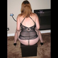 Sassy Spouse Shows Off In Shear Lingerie