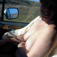 Rhonda Flashing At Truck Stop