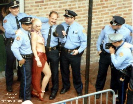 Pic #1 - Cops love Mardi Gras too!!