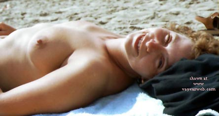 Pic #1 - Rosie - Topless On The Beach