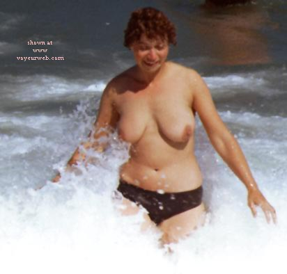 Pic #2 - Rosie - Topless On The Beach