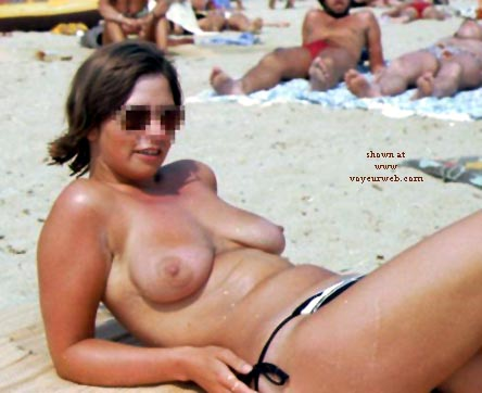 Pic #6 - Rosie - Topless On The Beach