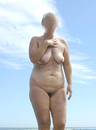 Pic #1 - Wife On Naturist Beach