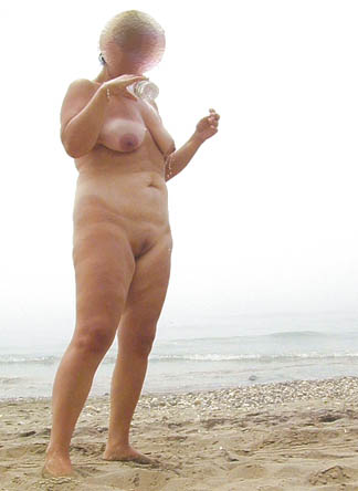 Pic #2 - Wife On Naturist Beach