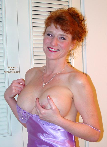 Pic #4 - Sandy Sexy In Lavender Lingerie!