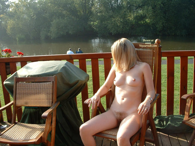 Pic #1 - Naked By Lake - Blonde Hair, Nude Outdoors, Naked Girl , Naked By Lake, Naked, Outdoors, Nude On Patio, Blonde, Sitting On A Chair