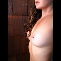 Pierced Nipples With Barbells - Brunette Hair, Pierced Nipples