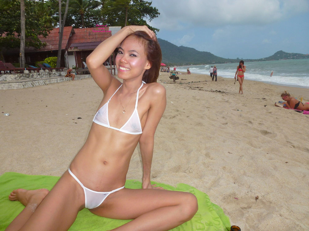 Pic #1 - Topless Girl: See-Thru Wicked Weasel Bikini At Resort Part 23 - Topless Girls