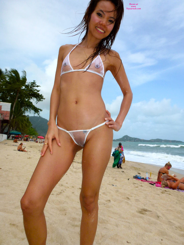Pic #7 - Topless Girl: See-Thru Wicked Weasel Bikini At Resort Part 23 - Topless Girls