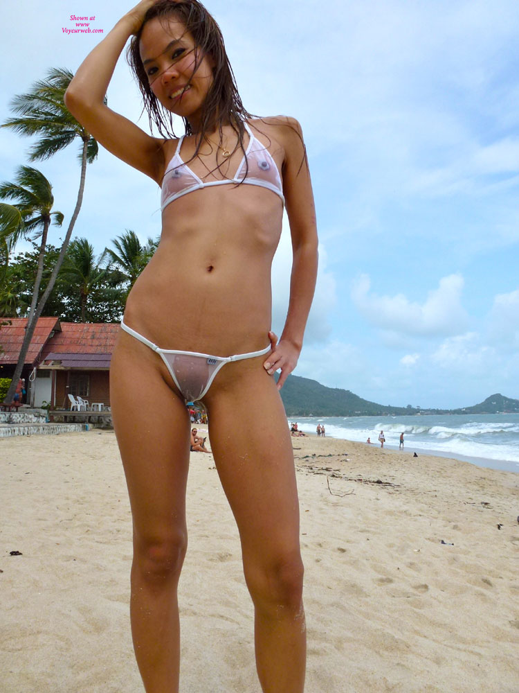 Pic #8 - Topless Girl: See-Thru Wicked Weasel Bikini At Resort Part 23 - Topless Girls