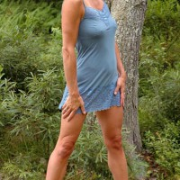 Hot Wife Genevieve's Blue In The Woods