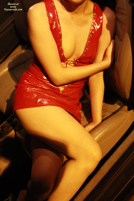 Pic #1 - Topless Wife: Hot Asian Milf Being A Car Model - Topless Wives
