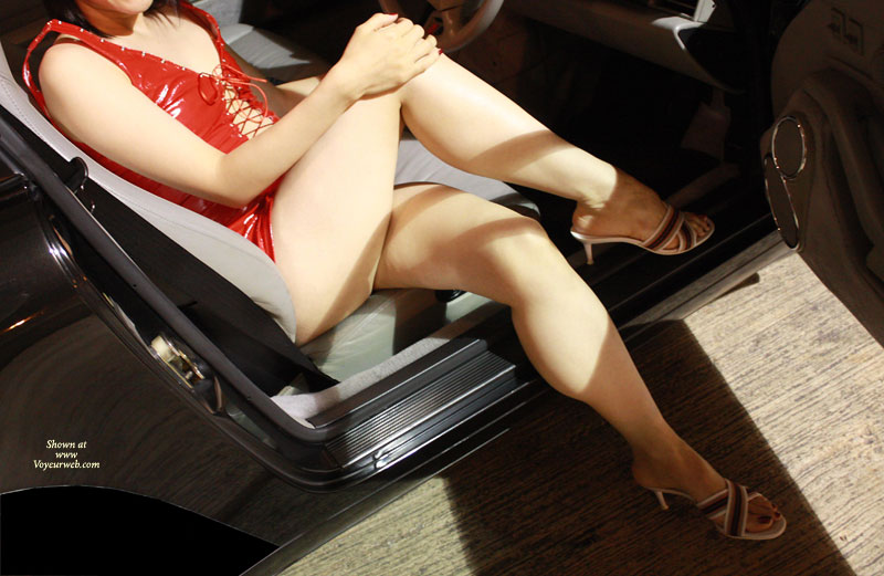 Pic #2 - Topless Wife: Hot Asian Milf Being A Car Model - Topless Wives