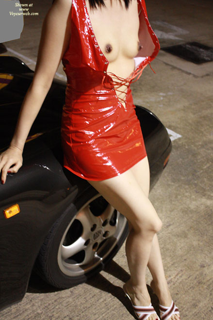 Pic #4 - Topless Wife: Hot Asian Milf Being A Car Model - Topless Wives