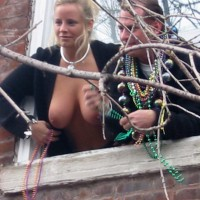 Mardi Gras - Blonde Hair, Hanging Tits