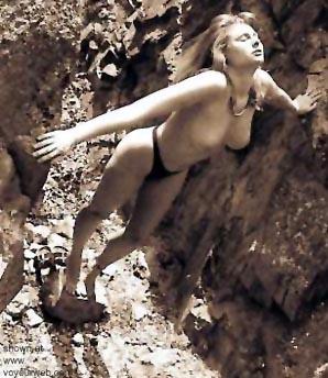 Pic #6 - Shawna      on the Rocks