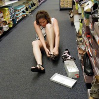 Pantieless Girl:Lisajane Out And About - Pantieless Girls