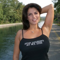 Tits In A Tank Top - Big Tits, Eye Contact, Smiling