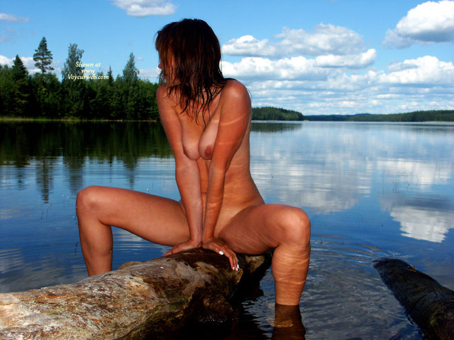 Pic #1 - Sitting Naked Waterside - Naked Outdoors, Spread, Nude Amateur , Sitting Naked Waterside, Pressed Boobs, Lakeside Nude, Sexy Girl At A Lake, Naked Outdoors, Spread