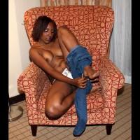 Topless Wife's Friend:Kody's White Panties
