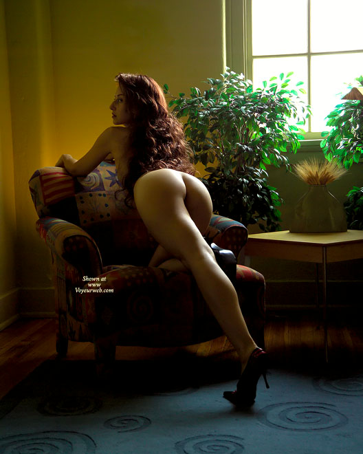 Pic #1 - Sensual Pose - Long Hair, Long Legs , Sitting Chair Pose, Behind Shine, Inviting Ass, Lovely Legs, Comfy Chair, Perfect Ass, Class Ass, Heart Shaped Ass, Gorgeous Fucking Ass