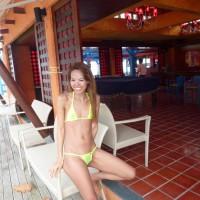 Girl in Swimwear:Yellow C-Thru Wicked Weasel Bikini In Samui-3