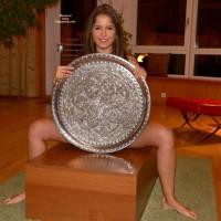 Nude Girl:*MFF Nice Girl On Table - Nude Amateurs