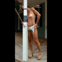 Hot Wife Genevieve On The Front Porch