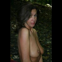 Camping Boobs - Dark Hair, Nude Outdoors, Standing