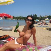 Topless Girlfriend:Nice Day On The Beach - Topless Girlfriends