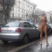 Nude Girl on heels:*MFF Lexo Under The Rain