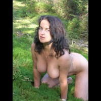 Doggie Style - Big Tits, Brunette Hair, Nude Outdoors, Hot Wife