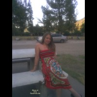 Pantieless Wife:At The Park Late